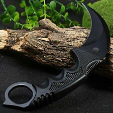 Black CSGO Fade Karambit Cs Go Doppler Counter Strike Fixed Blade Camping Knife