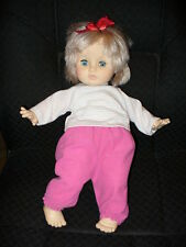 "17""  VTG CLOTH & VINYL GIRL DOLL, SLEEP EYES, ORIGINAL CLOTHES - EUGENE DOLL CO"