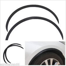 A Pair Black Carbon Fiber Car SUV Exterior Wheel Eyebrow Protector Strips Decals