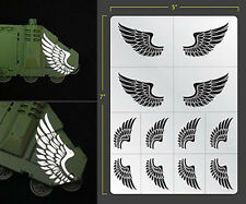 WINGS VINYL SELF ADHESIVE AIRBRUSH STENCIL FOR WARGAMING FALLOUT HOBBIES ANGELS