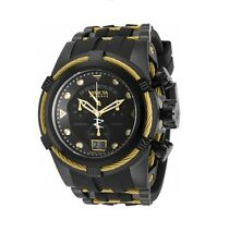 New Mens Invicta 90006 Reserve Bolt Zeus Swiss Chronograph Black Rubber Watch