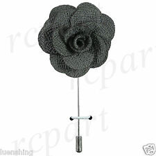 New in box formal Men's Suit chest brooch gray flower lapel pin wedding prom