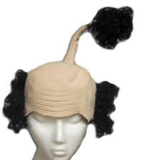 Sensei Wig Latex Bald Cap with Curly Black Hair Funny Costume Headpiece