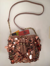 Flower Cluster Mini Bag Tori Burch Blush Sequin Draw String Bag MSRP $295.00