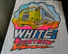 Vintage SUPER Rare  WHITE FREIGHTLINER TRUCK Iron-On Transfer by Roach Classic