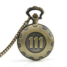 New Vault 111 Pocket Watch Fallout Pip Boy Nuka Cola Full Hunter Antique Chained
