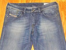 DIESEL YBO STRETCH DISTRESSED WIDE LEG BLUE JEANS WOMEN SIZE 26 GREAT CONDITION
