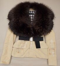 DSQUARED2 RACCOON FUR COLLAR LADIES JACKET>BNWT>GENUINE>£1600+>SHORT COAT>WOMENS