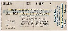 USED CONCERT TICKET - JETHRO TULL - NORTHGATE BLACKBURN 17th NOVEMBER 2001
