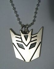 Decepticon Transformers Logo Silver Plated Pendant Necklace the bad guys robot