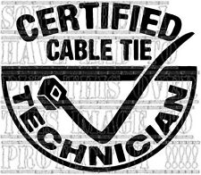 Certified cable tie technician RETRO FUNNY Vinyl Decal sticker 15x13cm fiat ford