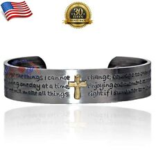 CHUNKY 100% COPPER MAGNETIC BRACELET/BANGLE/CUFF JESUS CROSS SIZE-M Y04XAS