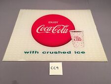 1963 Enjoy Coca-Cola w Ice Things Go Better With Coke Sign Light VINTAGE CC9