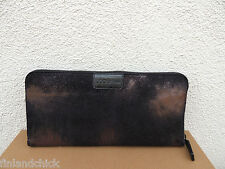 UGG ITALIAN COLLECTION METALLIC LEATHER CALANDRA ZIP CLUTCH PURSE ~NEW