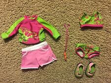 American Girl Jess retired / swim suits / sunscreen / water shoes