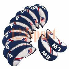 10PCS Golf Iron Covers HeadCover 4#-LW For Taylormade SLDR M2 Ping Adams Mizuno