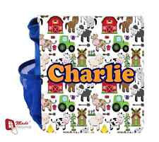 PERSONALISED BACKPACK BAG -CUTE FARM ANIMALS DESIGN - Gift- Any Name