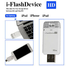 32GB USB i-FLASH DRIVE U DISK 8 PIN MEMORY STICK  FOR IPHONE 5 / 6 PLUS / IPAD