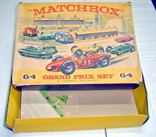 "Matchbox Giftset G-4 ""Grand Prix Racetrack Set"" 1964 leere Box"