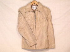 Jacqueline Ferrar beige leather jacket with snake print / size S / great / b57