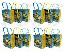 (12ct) 'The Movie Minions' Birthday Boy Party Favor Goodie Loot Gift Bags