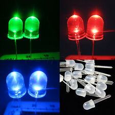 Lot 20pcs 10mm 4pin RGB Red Green Blue LED Diffused Common Anode DIY Project TW