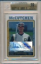 Andrew McCutchen 2005 Topps Chrome Update #234 Rc BGS 10 Auto 10 PRISTINE POP 2