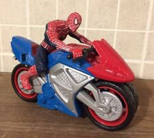 Spider-Man Figure And Motor Bike Battery Operated