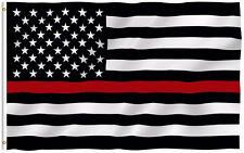 Thin Red Line Firefighter respect and honor First Responder Bomber Flag 3x5'