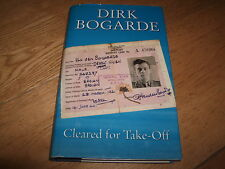 DIRK BOGARDE-CLEARED FOR TAKE OFF-SIGNED-1ST-1995-HB-VIKING-VG-RARE