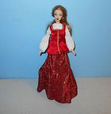 1991 Mattel Red LipStick Make-Up Barbie Doll Movie Star Look in Long Red Outfit