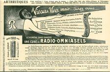 """Publicité Ancienne """" Médicaments Arthritiques RADIO-OMNIASELS 1925 ( P 35)"""