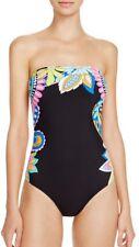 Nwt $148 Sz 12 Trina Turk Monaco One Piece Bandeau Swimsuit