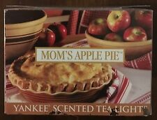 Yankee Candle MOM'S APPLE PIE Box of 12 Tea Lights RARE