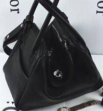 Stylish Top Handle Tote Satchel Shoulder Handbag Black Grey Blue