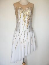 CUSTOM MADE NEW FIGURE DANCE ICE SKATING COSTUME DRESS