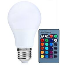 E27 Regulable RGB luz LED Cambia De Color Bombilla Mando A Distancia 85-265V UKt