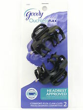 GOODY OUCHLESS COMFORT FLEX CLAW HAIR CLIPS - BLACK - 2 PCS. (23345)