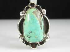 Turquoise Ring Sterling Silver Estate Size 6.5 Signed DSM