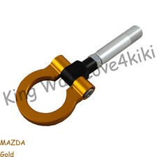 NEW GOLD RACING TOW TOWING HOOK SCREW ALUMINUM T2 FOR MAZDA 2 5 6 RX-8 CNC