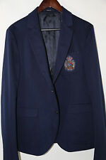 GUCCI Cotton Two Button Pocket Logo Patch Blazer Jacket Size 42 R RETAIL $1,895