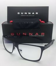 New GUNNAR Computer Glasses VINYL 57-15 135 Onyx Black Frame w/ Crystal Clear