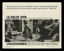 LA DOLCE VITA 22x28 inch MOVIE POSTER Federico Fellini MINT/ROLLED NEVER FOLDED!