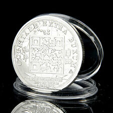 1.00 Physical Bit Coin BTCC Challenge Silver Coin Made of Iron Popular Metal
