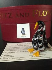 Art Glass Penguin Figurine From Fitz and Floyd's Glass Menagerie New in Box