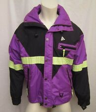 AUTH. BLACK BEAR SKI WINTER JACKET SZ SMALL NEON YELLOW PURPLE BLACK VIC-THOR1