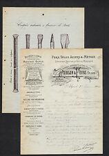 """ALGER (ALGERIE) QUINCAILLERIE / OUTILS / VIEILLE MONTAGNE """"POIRSON & FEVRE"""" 1904"""