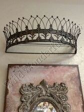 Teester Bed Crown Antique Bronze Wall Decor Ancathus Leaf Leaves Curtain Rod New