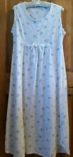 SOFT PINK COTTON BLEND SLEEVELESS LONG GOWN LACE L LARGE NIGHTGOWN SLEEPSHIRT
