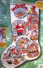 Bucilla 84098 SNOW DOMES  Cross Stitch Stocking Kit ~ Sealed  ~ Gillum ~ Charms